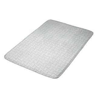 Off White Puzzle Bath Mat