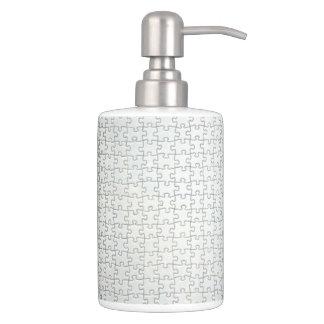 Off White Puzzle Bathroom Set