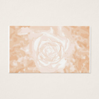 Off White Rose on Rose Hips Texture Business Card
