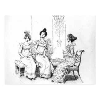 Offended two or three young ladies postcard
