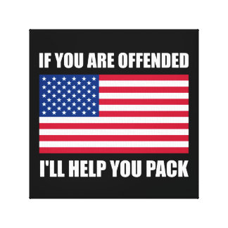Offended USA Flag Help Pack Canvas Print