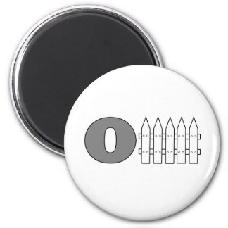 Offense (O Fence) 6 Cm Round Magnet