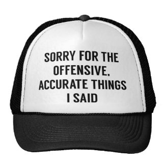 Offensive Accurate Things Cap