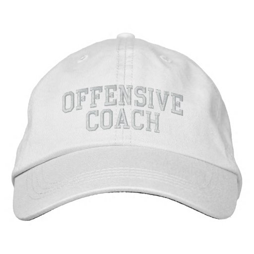 OFFENSIVE COACH Hat Embroidered Baseball Caps