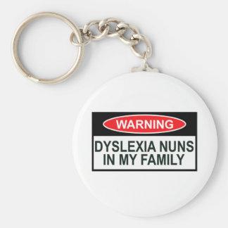 Offensive Dyslexia Basic Round Button Key Ring