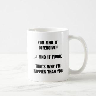 Offensive Happy Basic White Mug