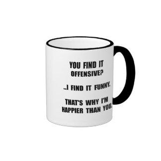 Offensive Happy Ringer Mug