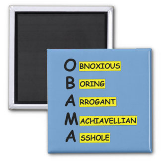 Offensive,insulting anti Obama Square Magnet