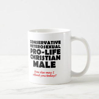 Offensive Prolife Male Christian Mug Humor