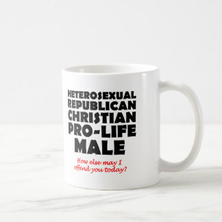 Offensive Republican Male Christian Mug Humor