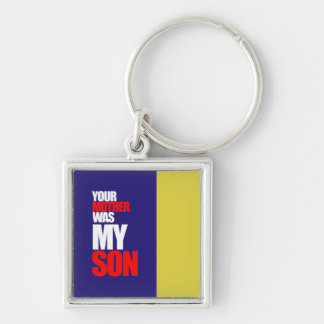 Offensive Silver-Colored Square Key Ring