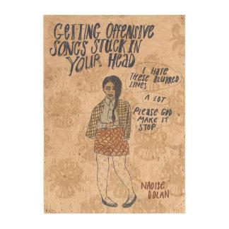 Offensive song lyrics photo cork paper