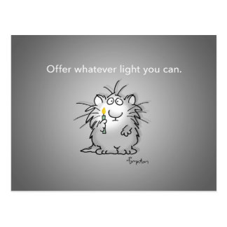 OFFER WHATEVER LIGHT YOU CAN by Sandra Boynton Postcard