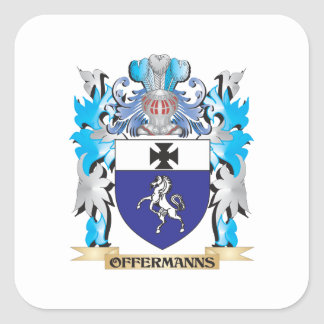 Offermanns Coat of Arms - Family Crest Square Sticker