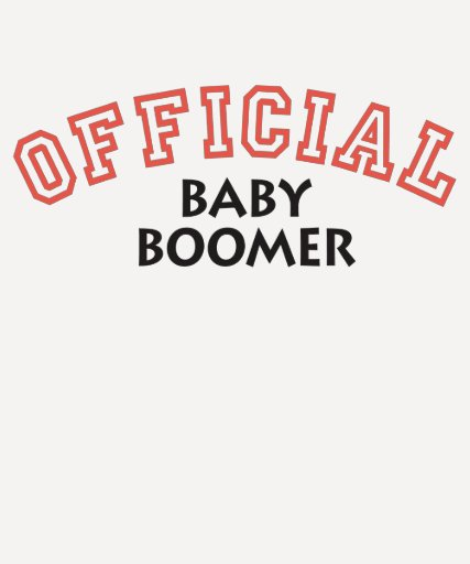Offical Baby Boomer - Red Shirt