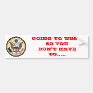 OFFICAL US TAX PAYER BUMPER STICKER
