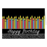 Office Birthday Card with Candles
