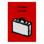 Office Briefcase or Travel Suitcase. Sketch. Red Business Card Templates