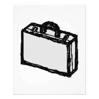 Office Briefcase or Travellers Suitcase. Sketch. 11.5 Cm X 14 Cm Flyer