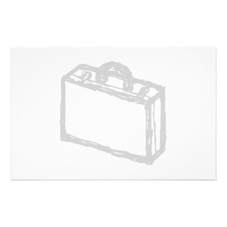 Office Briefcase or Travellers Suitcase. Sketch. Flyers