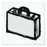 Office Briefcase or Travellers Suitcase. Sketch. Custom Announcement
