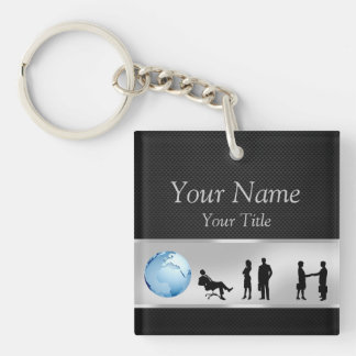 Office Business People World Globe - Keychain