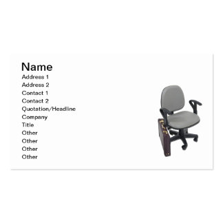 Office Chair and Briefcase Pack Of Standard Business Cards