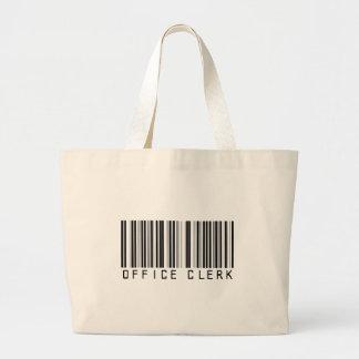 Office Clerk Bar Code Jumbo Tote Bag