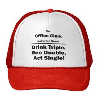 office clerk trucker hat