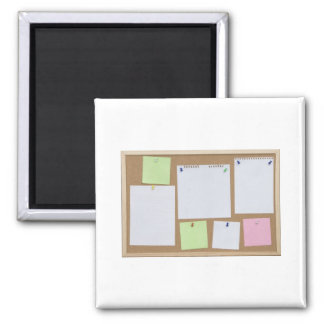 office cork board square magnet