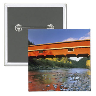 Office Covered Bridge the longest in Oregon at 2 Pinback Button