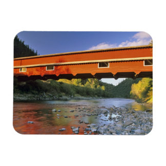 Office Covered Bridge the longest in Oregon at 2 Rectangular Photo Magnet
