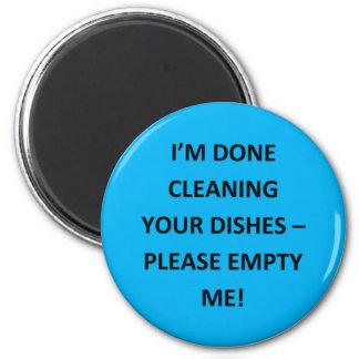 Office Dishwasher Notices 6 Cm Round Magnet