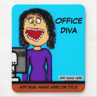 Office Diva Cartoon Mouse Pad