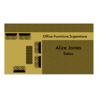 Office Furniture Business Card, Beige Pack Of Standard Business Cards