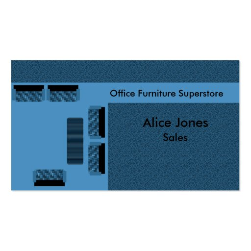Office Furniture Business Card, Blue