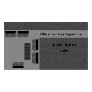 Office Furniture Business Card, Gray Pack Of Standard Business Cards