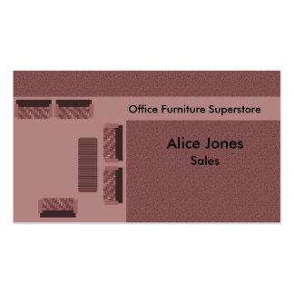 Office Furniture Business Card, Mauve