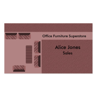 Office Furniture Business Card, Mauve Pack Of Standard Business Cards