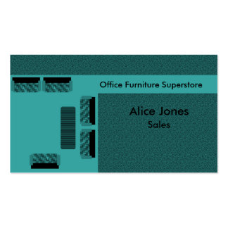 Office Furniture Business Card, Teal Pack Of Standard Business Cards