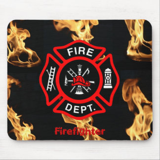 Office Gift for Firefighters Maltese Cross Fire Mouse Pad