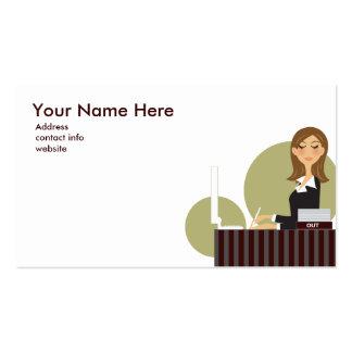 Office Girl Business Card