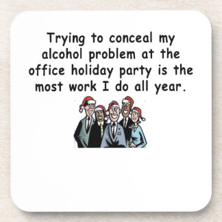 Office Holiday Party Humor Coaster