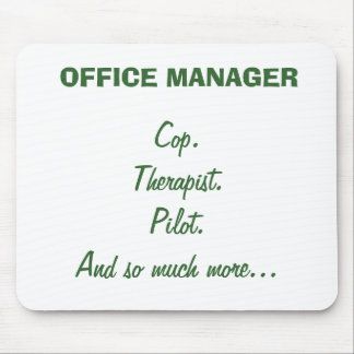 OFFICE MANAGER Mouse Pad