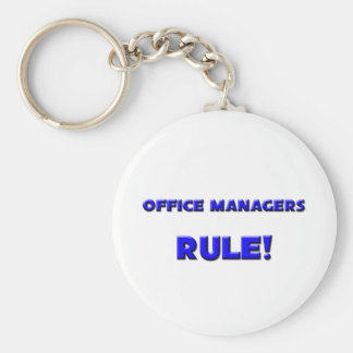 Office Managers Rule! Basic Round Button Key Ring