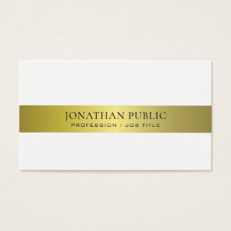 Office Modern Stylish Attorney Director Plain Luxe Business Card