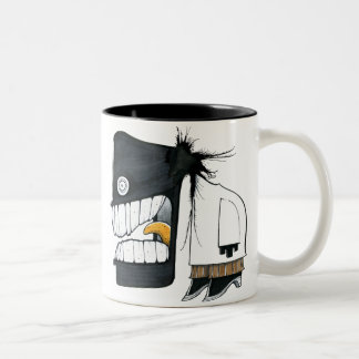 Office Monster 3 Two-Tone Coffee Mug