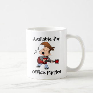 Office Party Guitar Player Coffee Mug