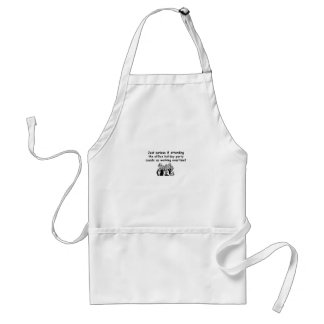 Office Party working overtime Aprons