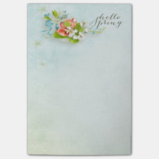 Office - Pretty Hello Spring Post-it® Notes